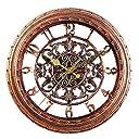 掛け時計 連続秒針 静音 おしゃれな YJJY 壁掛け時計 古典的な アンティーク調 インテリア レトロ 北欧風 ウォールクロック (銅色)