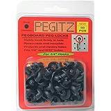 Pegitz Pegboard Peg Locks 50PCS (1/4 inch, Black)