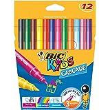 BIC 926556 Kids Cascade Fine Felt Tip Pens - Assorted Colours, Pack of 12