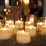 Homemory Wedding Novelty Candles, Flameless Flickering LED Tealight Candles Battery Operated Votive Tealight Electric Tea Lig