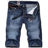 Victory Man(ビクトリー メンズ)ショートパンツ メンズ 短パン ハーフパンツ デニムショーツ カジュアル デニム ファション ブルー 28