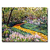 Trademark Fine Art Deep Forest Garden David Lloyd Glover キャンバスウォールアート 18 by 24-Inch DLG0095-C1824GG