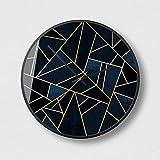 DUOLUO ノルディックアートウォールクロック現代的なミニマリストファッション雰囲気のリビングクリエイティブミュートサイレントクォーツ時計O65 (Size : 12B)