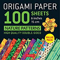 """Origami Paper 100 sheets Nature Patterns 6"""" (15 cm): Tuttle Origami Paper: High-Quality Origami Sheets Printed with 8 Different Designs: Instructions for 8 Projects Included (Origami Paper Pack)"""