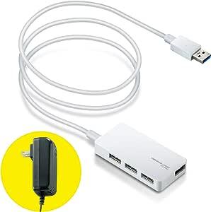 【2014年モデル】エレコム USBハブ 3.0 2.0対応 4ポート ACアダプタ付 ホワイト U3H-A408SWH