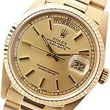 ROLEX(ロレックス) デイデイト メンズ腕時計 (中古) Ref.18238 ゴールド文字盤 K18金無垢 (オーバーホール&新品仕上げ済) [並行輸入品]
