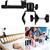 HelloCreate Baby Monitor Camera Bracket, 360 Degrees Rotatable Stable Camera Mount Bracket Baby Monitor Camera Mount Bracelet
