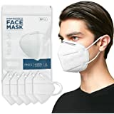 5PCS Face Mask, 4 Layer Breathable Earlooped Design Isolate Air Pollutants - White(Shipped from Australia)