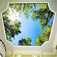 Weaeo カスタム写真の壁紙緑の木の寝室のリビングルームホテルのレストラン天井の背景壁紙の壁紙ホームデコレーション-400X280Cm