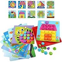 ボタンネイル子供のおもちゃの10セット知的な教育のパズルクリエイティブボタンの色の認識創造的な想像力ギフトギフトボタン46写真10