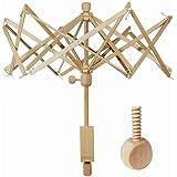 Yarn Swift,Wooden Umbrella Swift Yarn Winder with Replacement Screw,Wood Swift Yarn Holder,Medium