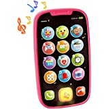 HOLA Baby Toy Phones for 1 + Year Old - Early Learning Educational Gifts - Role-Play Fun Toddler Toy with Lights, Music - PIN