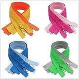 "Meillia 8PCS Separating Jacket Zippers for Sewing Coat Clothes Jacket Zipper Heavy Duty Plastic Zippers Bulk in 8 Colors, 26"""