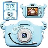 子供用カメラ,TONDOZENキッズカメラ トイカメラ 2000万画素 1080P HD 高画質動画カメラ キッズデジカメ USB充電 デュアルレンズ 自撮可能 子どもデジタルカメラ 2.0インチIPS画面 4倍ズーム 子供の日 誕生日プレゼント 日