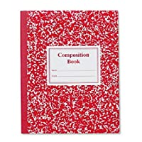 (4 Pack) - Roaring Spring Paper Products Composition Book, Grade 3 Ruled, 50 Sheets, 25cm x 20cm, Red (ROA77922), 4 Packs