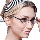 KLESIA レディース 老眼鏡 シニアグラス ブルーライトカット おしゃれ 超軽量 非球面レンズ (2.5, 高貴紫)