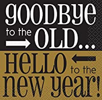 (New Years Napkins - Style 3) - Goodbye To The Old New Years Cocktail Napkins, 16ct