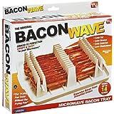 (25cm x 20cm x 0.9cm (Length x Width x Height)) - Emson Bacon Wave, Microwave Bacon Cooker, New
