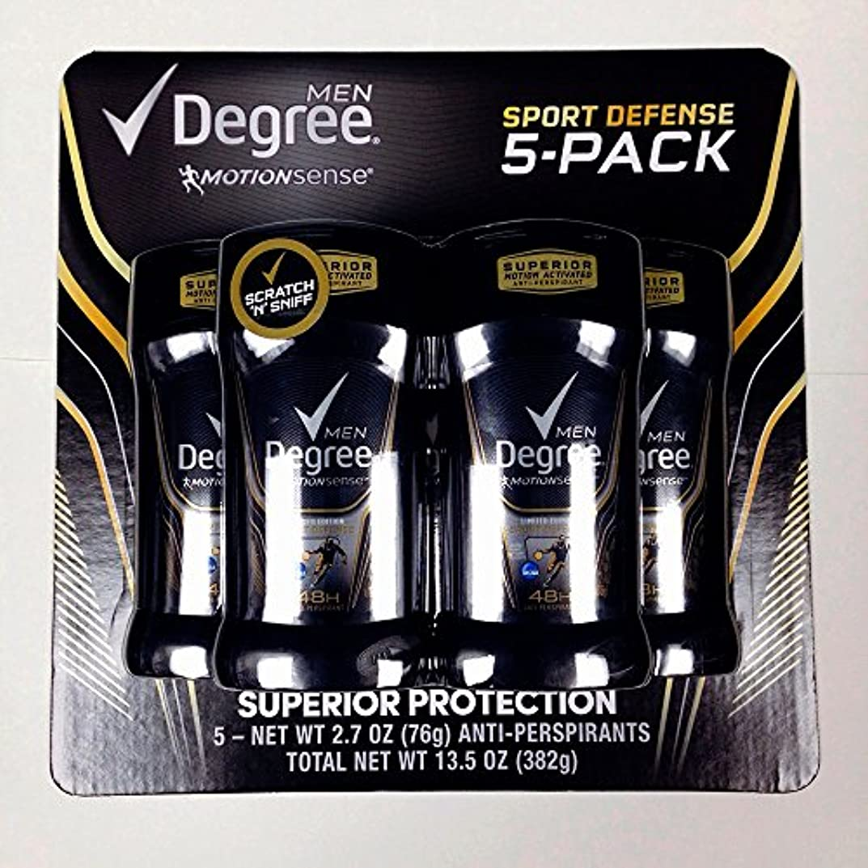 勝者イソギンチャクストレージディグリー メンズ デオドラント モーションセンス スポーツディフェンス 1個76g 限定5個セット 並行輸入品 Degree Men Motion Sense Deodorant 5 Pack (2.7oz×5) 48...