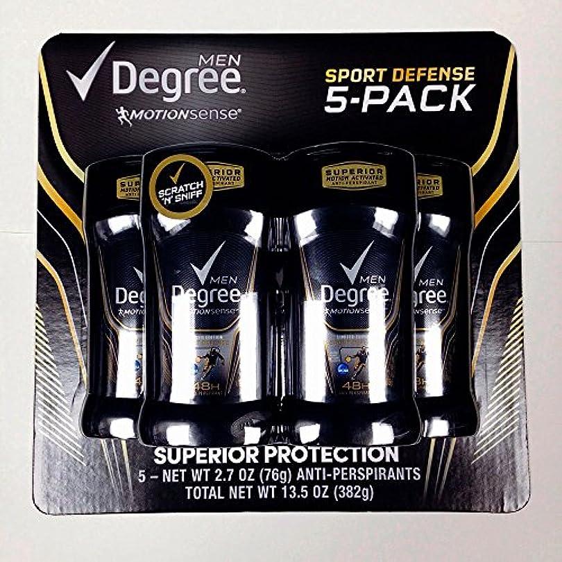 伝染病ナチュラル富ディグリー メンズ デオドラント モーションセンス スポーツディフェンス 1個76g 限定5個セット 並行輸入品 Degree Men Motion Sense Deodorant 5 Pack (2.7oz×5) 48...