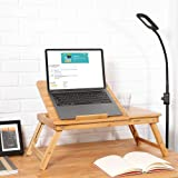 XYXK LAPTOP STAND Laptop Bed Desk Bamboo Adjustable Breakfast Bed Tray Notebook Table Dorm Desk with Drawer Foldable Computer