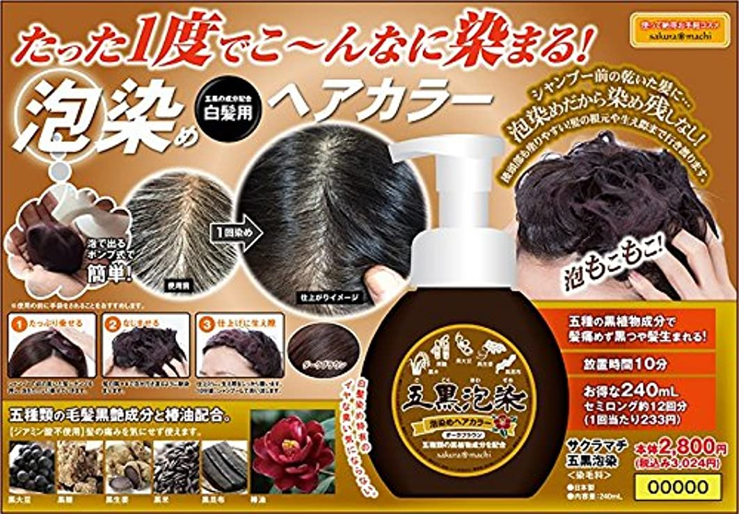 でも先費やす五種の黒艶成分で染め上げる!泡染めヘアカラー サクラマチ GOKOKU泡染め(ごこく)