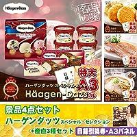 景品4点セット ハーゲンダッツ スペシャル・セレクション+産直3種セット アプリ対応ビンゴカード50枚付