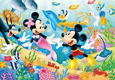 ディズニー  iPhone/Androidスマホ壁紙(freeサイズ)-1 - 人魚姫のミニーとミッキーマウス