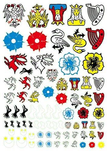 アンドレアミニチュアズ AT-012 French Heraldry Transfers