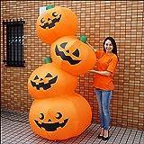 ハロウィンエア装飾 エアブロー 4段オレンジパンプキン H240cm  23826