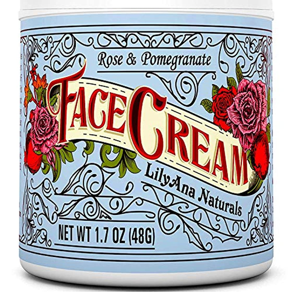 命令的シガレットベアリングサークルLilyAna Naturals 社 (リリーアナ?ナチュラルズ) モイスチャークリーム Face Cream Moisturizer (1.7 OZ) 日本語説明書き付 [並行輸入品]