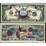 Happy Birthday Million Dollar Bill With Bill Protector by American Art Classics