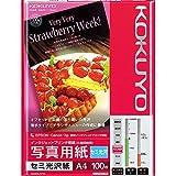 コクヨ インクジェット 写真用紙 セミ光沢 A4 100枚 KJ-J14A4-100