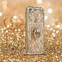 ノーブランド品 iphone7 iphone7 plus 用 バンカーリング付きケース (iphone7 plus, ゴールド)