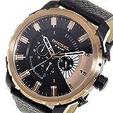 ディーゼル ストロングホールド メンズ クオーツ クロノ 腕時計 DZ4390 ブラック