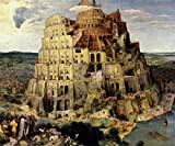 ブリューゲル・[バベルの塔」・プリキャンバス複製画・ギャラリーラップ仕上げ(8号サイズ)