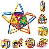 PovKeever 磁石ブロック マグネット立体パズル 積み木 知育玩具 子供おもちゃ 男の子 女の子 お祝い プレゼント 創造力 想像力 カラフル 三角 四角 72ピース