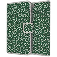 CaseMarket 手帳型 apple iPhone X iPhoneX 唐草模様 和柄 かわいい風呂敷デザイン 緑 2304-77 スマホケース 全機種対応 薄型 軽量 ストラップホール