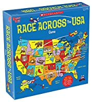University Games 00701 Scholastic Race Across the USA Game