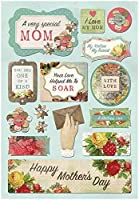"Karen Foster Design Scrapbooking Cardstock Sticker, 12 by 12"", A Very Special Mom [並行輸入品]"