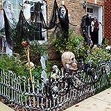 Rabugoo 30インチ 怖い 黒 装飾ガーゼ ハロウィン フェスティバル 祝日 舞台セット 小道具 デコレーション
