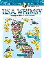 Creative Haven U.S.A. Whimsy: A WordPlay Coloring Book (Creative Haven Colouring Books)