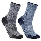 YUEDGE メンズ ソックス アウトドア ウェア トレッキング 登山用 スキー ソックス 男性 靴下 25-29cm(ブルー/グレー)