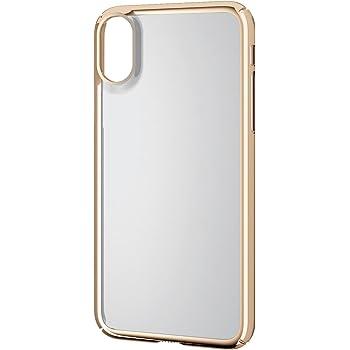 81871cf184 エレコム iPhone X ケース カバー ハード ポリカーボネート素材 サイドメッキ 【端子・ボタン回りまで保護する設計】 ゴールド  PM-A17XPVKMGD