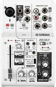 ヤマハ YAMAHA ウェブキャスティングミキサー オーディオインターフェース 3チャンネル AG03 インターネット配信に便利な機能付き 音楽制作アプリケーションCubasis LE対応