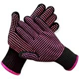 2 Pcs Professional Heat Resistant Glove for Hair Styling Heat Blocking Gloves for Curling, Flat Iron and Hair Styling Tools,