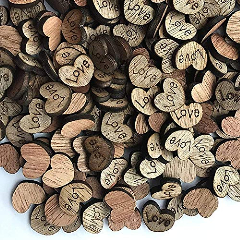 木製Loveハートウェディング ハートウェディング 工芸木製ゲーム 200PCS