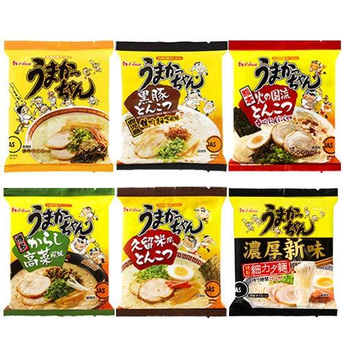 ハウス食品 うまかっちゃん ご当地 食べ比べ 各5食×6パック(