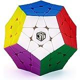 XMD メガミンクス 魔方 マジックキューブ 立体パズル 脳トレ ポップ防止 知恵おもちゃ プレゼント Magnetic Megaminx Puzzle () (【限定版マルチカラー】)