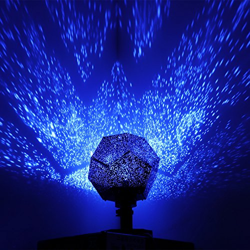 ALLOMN投影ランプ プロジェクター ライト スタープロジェクター ライト インテリアライト 夢幻 ロマンチック星空 十二星座のパターンがある (ブルー)